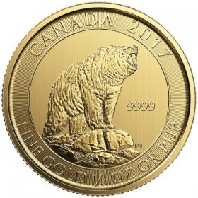 Gold Royal Canadian Mint Grizzly Bear Coin