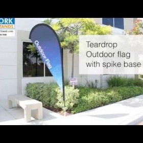 Teardrop Outdoor Flag with Spike Base (800-516-7606)