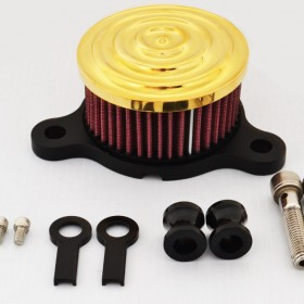Gold Scalloped Air Cleaner Intake for Harley-Davidson
