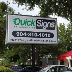 Internally Lit Pylon Sign in St. Augustine