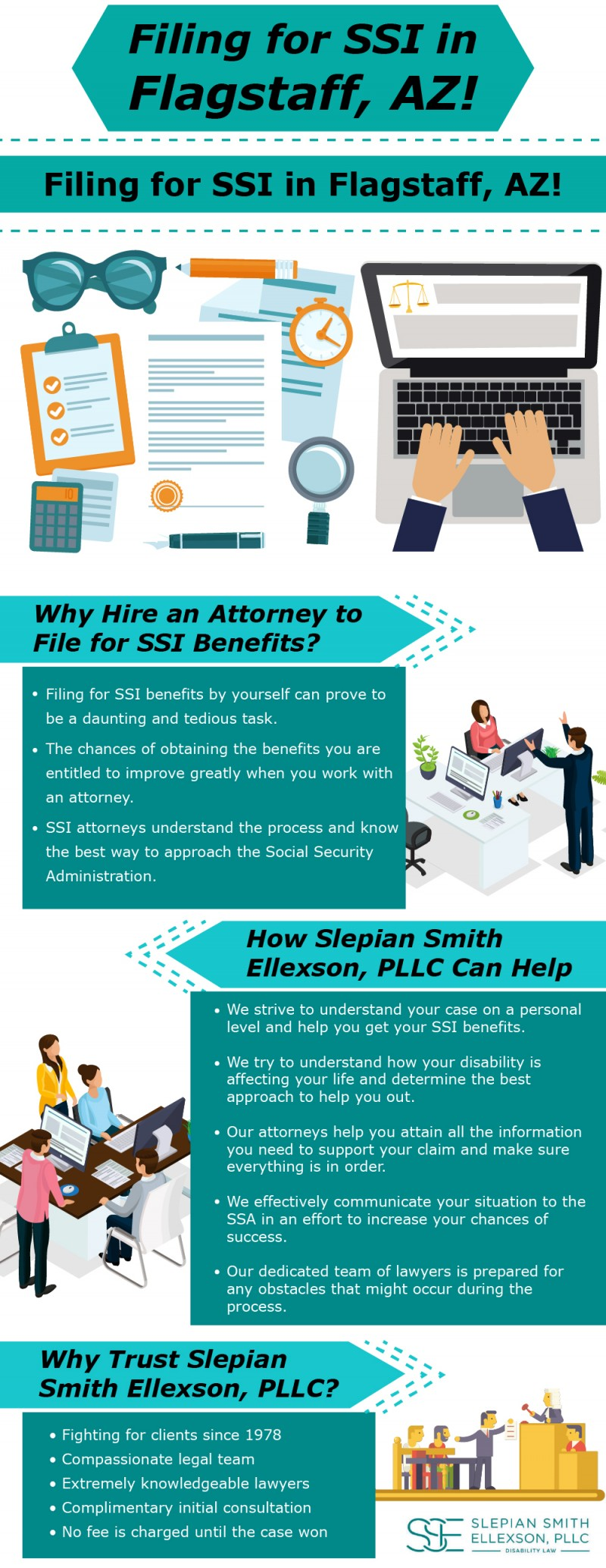Avail for SSI in Flagstaff Az at Slepian Smith Ellexson, PLLC