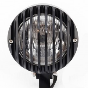 Bullet Style Powder Coated Black Headlight for Harley-Davidson Motorcycles