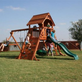 A-frame Fort Concho Swing Set