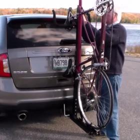 One Tandem Hitch Rack - CycleSimplex Trike and Bike Racks
